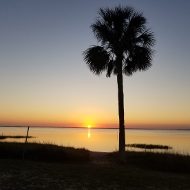 View from our camper, Presnell's Marina, Port St. Joe FL