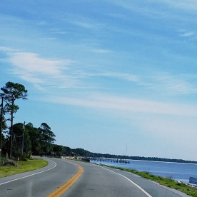 Hwy 98 going into Carabelle FL